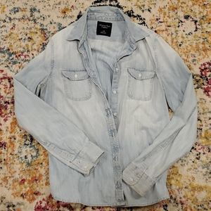 Washed out button down jacket/button down shirt